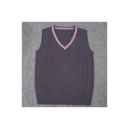 Japanese School Uniform Knitted Ves..