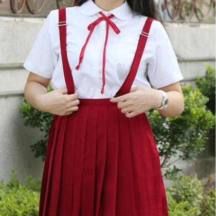 Japanese School Uniform Braces Skir..