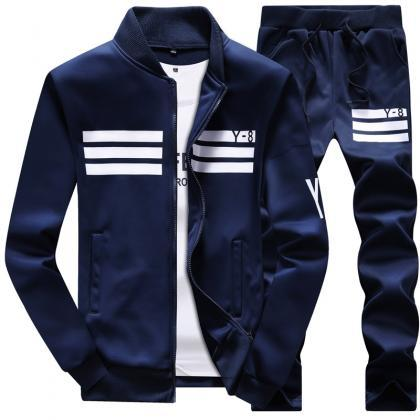 Mens Tracksuit Set Plus Size Stand..