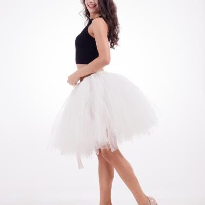 Midi Tulle Skirt Elegant Wedding Br..