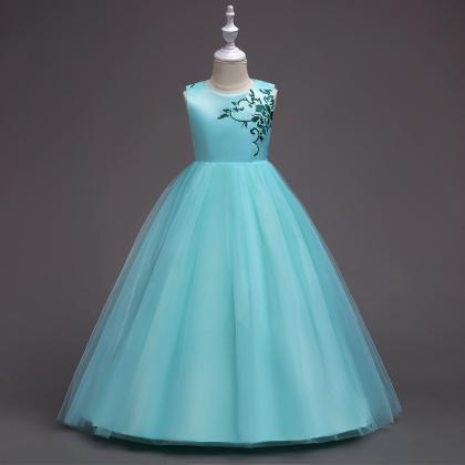 Embroidery Flower Girl Dress Prince..