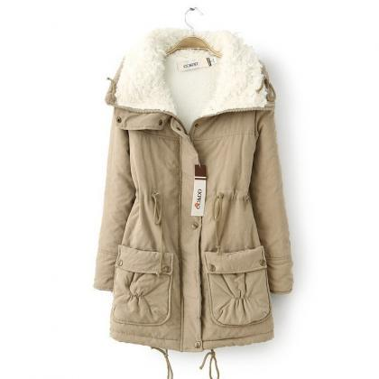 Winter Women Thick Long Fleece Coa..