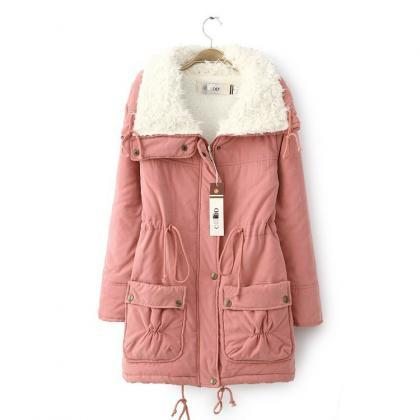 Winter Women Thick Long Fleece Coat..