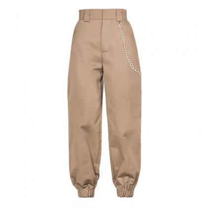 Women Harem Pants Streetwear High W..