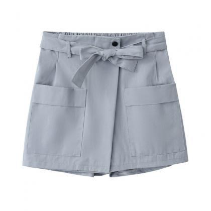 Women High Waist Shorts Women Belte..