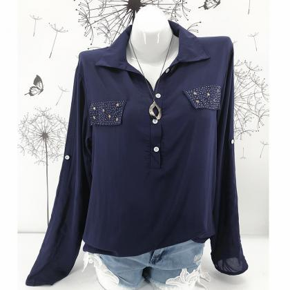 Women Blouse Long Sleeve Plus Size ..