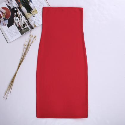 Women Summer Pencil Dress Strapless..