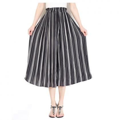Women Striped Wide Leg Pants Loose..