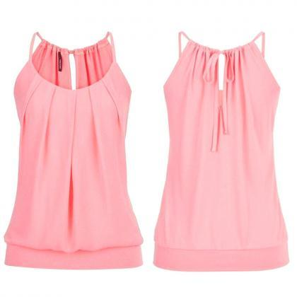 Women Tank Top Summer Casual Ruched..