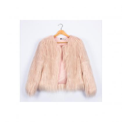 Plus Size 4XL Women Fluffy Faux Fur..