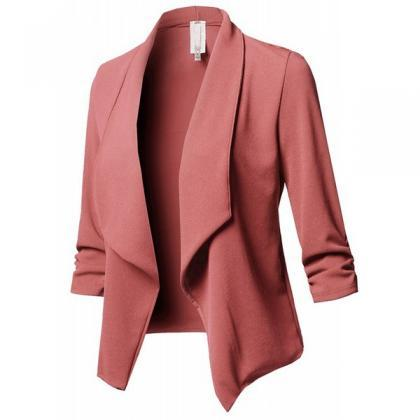 Women Suit Coat Casual Long Sleeve..