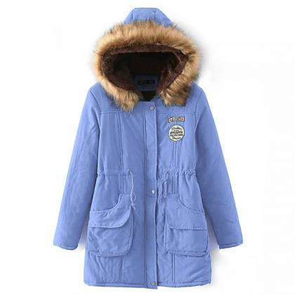 Winter Women Cotton Coat Parka Cas..