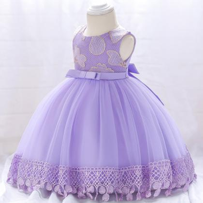 Newborn Baby Girl Baptism Dress Pri..