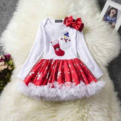 Toddler Kids Baby Girls Dress Long ..