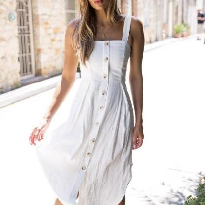 Women Asymmetrical Dress Spaghetti ..