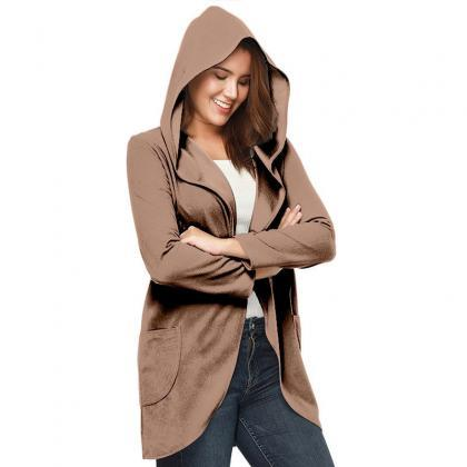 Women Woolen Blend Coat Autumn Sol..
