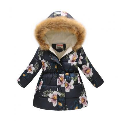 Kids Girls Cotton Down Coat Winter ..