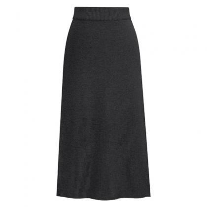 Women Knitted Pencil Skirt Autumn W..