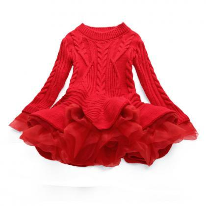 Baby Girl Sweater Dress Long Sleeve..