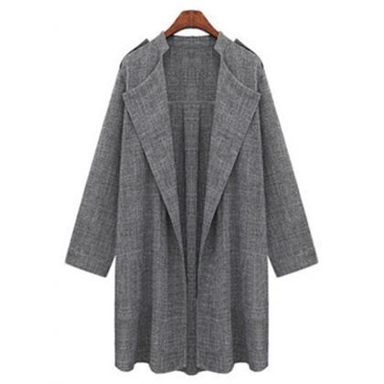 Women Trench Coat Spring Autumn Lon..
