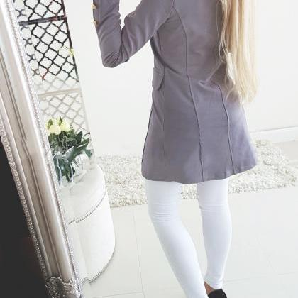 Women Slim Suit Coat Autumn Long S..