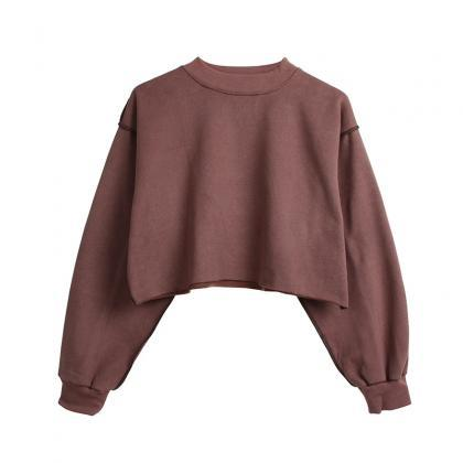 Women Crop Tops Autumn Winter Long ..