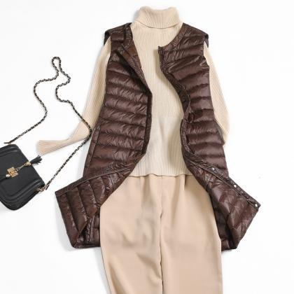 Women Ultra Light Vest Coat Autumn ..