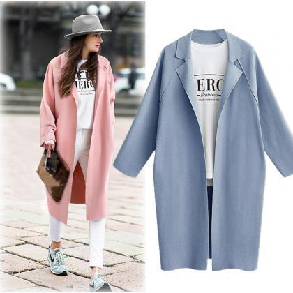 Women Trench Coat Autumn Turn-down ..