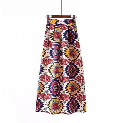 Women Floral Printed Maxi Skirt Vi..