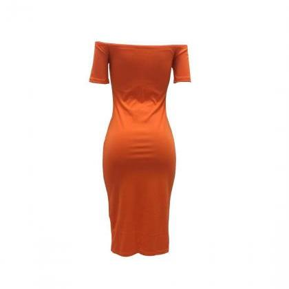 Women Pencil Dress Off Shoulder Sh..