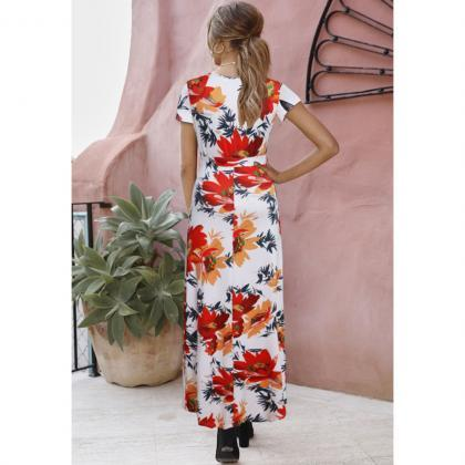 Women Floral Printed Maxi Dress V N..