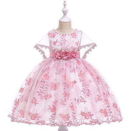 Embroidery Lace Flower Girl Dress ..