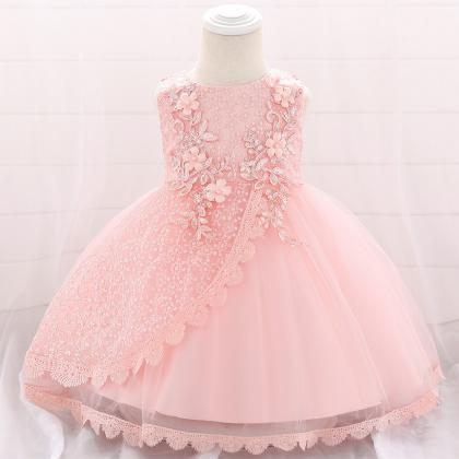 Lace Flower Girl Dress Princess New..