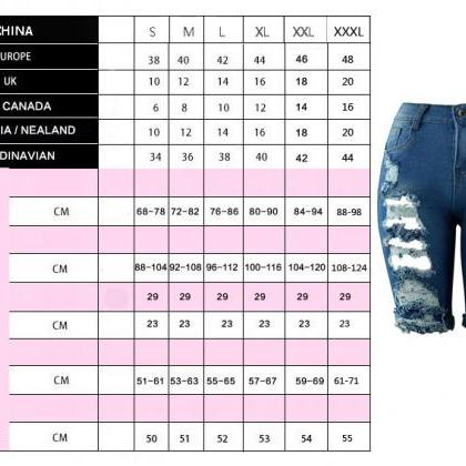 Women Jeans Summer High Waist Knee ..
