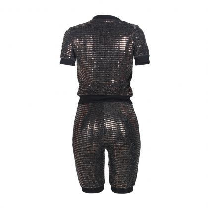 Women Tracksuit Short Sleeve T Shi..