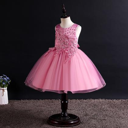 Lace Flower Girl Dress Princess Wed..