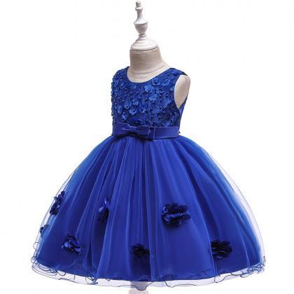 Beaded Lace Flower Girl Dress Princ..