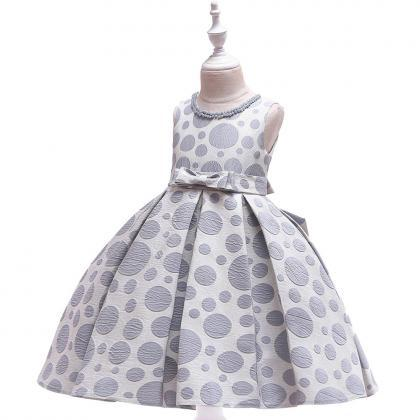 Polka Dot Flower Girl Dress Princes..