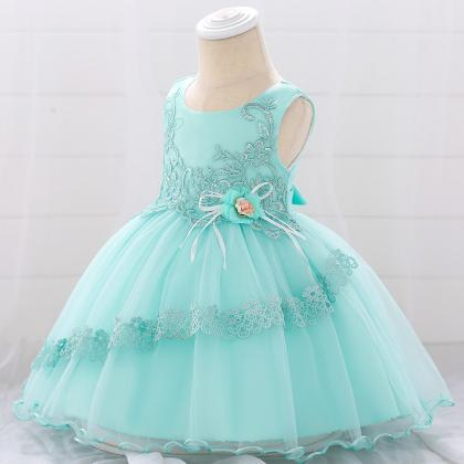 Applique Lace Flower Girl Dress Pri..