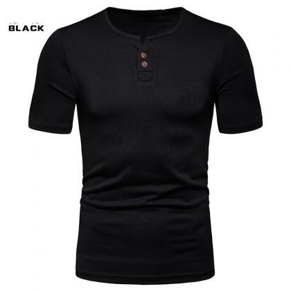 summer New Men T-Shirt High Stretch..