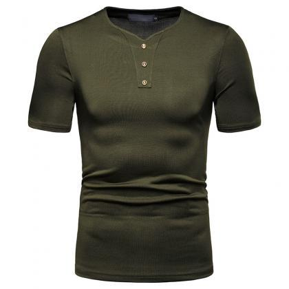 New Men T-Shir High Stretch Loose S..