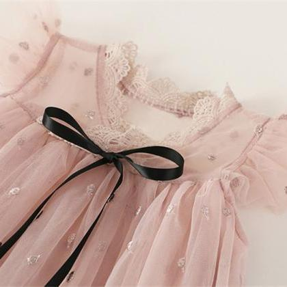 flower Girls Dress New Summer Mesh..