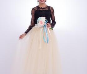 6 Layers Tulle Skir..