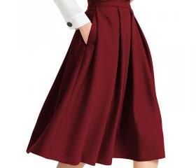 Women Midi Pleated S..