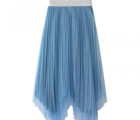 Blue Pleated A-line..