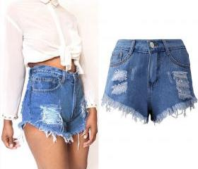 Women Denim Shorts H..
