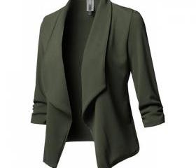 Women Suit Coat Casu..