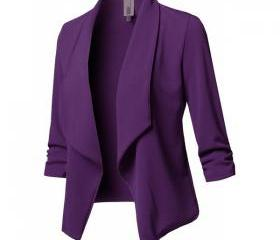 Women Suit Coat Cas..
