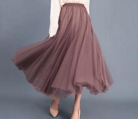 Women Long Tulle Mes..