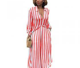 Women Striped Two Pi..